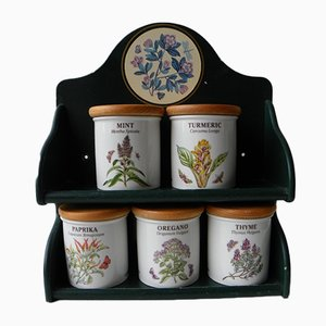 Vintage Botanic Garden Jars from Portmeirion, Set of 5