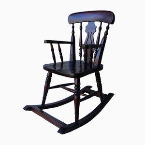 Petite Rocking Chair Vintage en Bois