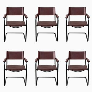 Bauhaus MG5 Dining Chairs by Centro Studi for Matteo Grassi, 1970s, Set of 6