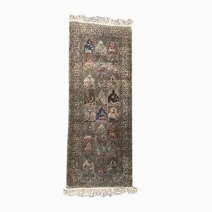 Vintage Turkish Silk Kayseri Rug