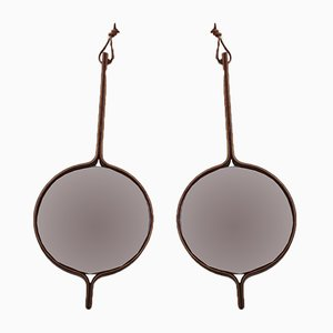 Rosewood Vanity Mirrors by Hans Agne Jakobsson for Markaryd, 1950s, Set of 2