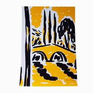 Yellow El Puente Print by Rosa Torres, 1995