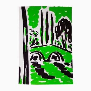 Green El Puente Print by Rosa Torres, 1995