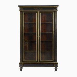 Mueble francés antiguo de madera ebonizada