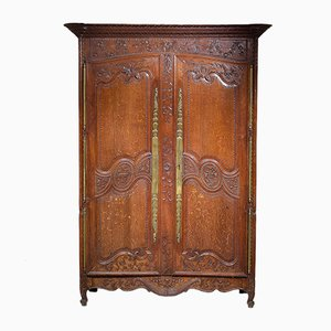 18th-Century Oak Armoire
