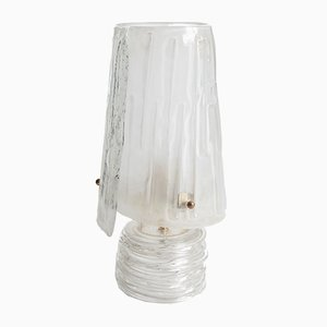 Murano Glass Table Lamp with Gold Dust Enclosures, 1950s