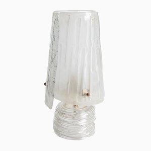 Tischlampe aus Muranoglas mit Goldpartikeln in der Glasmasse, 1950er