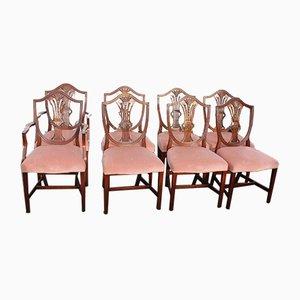 Mahogany Dining Chairs, Set of 8