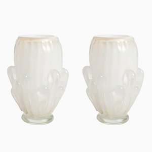 Murano Glass Vases, 1980s, Set of 2