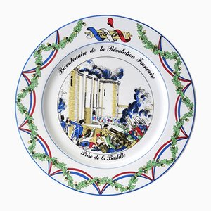 French Revolution Plate by B. Frappier for Apilco, 1989