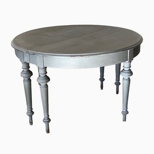 Gustavian Half Moon Console Tables, Set of 2