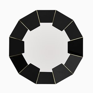 Specchio Darian nero di Covet Paris