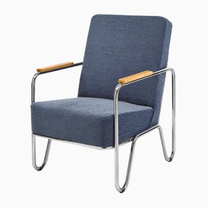 Vaclav Blue Armchair by Kovonax for Slezak