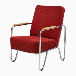 Roter Vaclav Armlehnstuhl von Kovonax für SLEZAK Factories