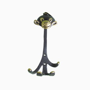 Brass Monkey Coat Hook by Walter Bosse for Hertha Beller, 1950s