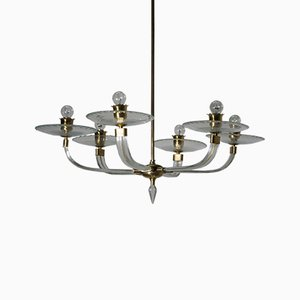 Murano Glass Chandelier by Ercole Barovier for Barovier & Toso, 1940s