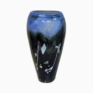 Glasvase von Maud Gjeruldsen Bugge für Hadeland Glassverk, 1980er