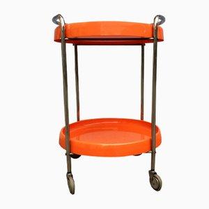 Bandeja de servicio vintage en naranja