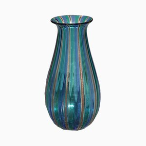 Jarrón de cristal de Murano multicolor, años 60