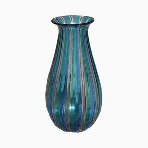 Mehrfarbige Vase aus Muranoglas, 1960er