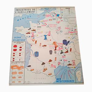 Mapa geográfico de dos caras de Imprimerie Oberthur, 1964