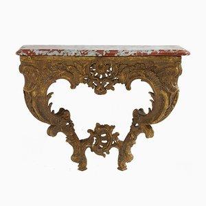 Consola francesa dorada del siglo XVIII