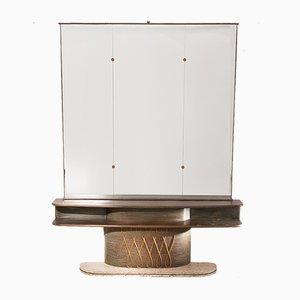 Consola italiana con espejo, años 60
