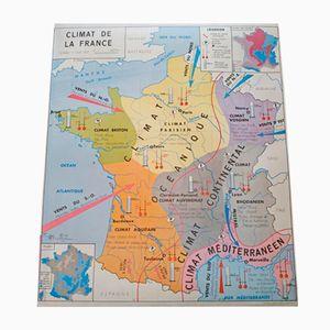 Mapa geográfico de la costa atlántica de dos caras de Imprimerie Oberthur, 1964
