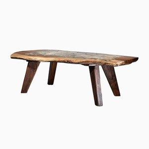Couchtisch mit Tischplatte aus Achat mit Intarsien, 1970er