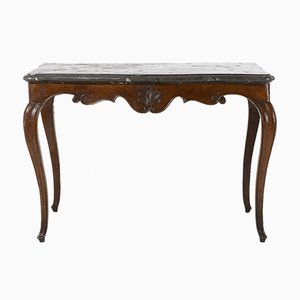 Antique French Carved Oak Console, 1760s