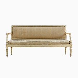 Antikes italienisches Sofa mit lackiertem Gestell
