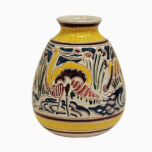 jarrón de cerámica de Kåre Berven Fjeldsaa para Figgjo Fajanse, años 70