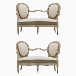 19th Century French Painted Sofas, Set of 2