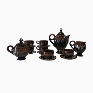Coffee Service Set by Marius Giuge for Vallauris, 1950s