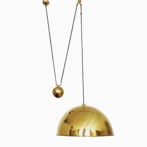Lampada in ottone di Florian Schulz, anni '60