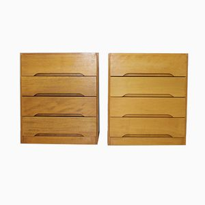 Mid-Century Teak of Chest of Drawers from YBRO, 1975, Set of 2
