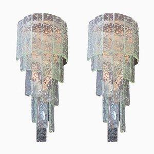 Applique grande vintage in vetro di Murano, 1982, set di 2