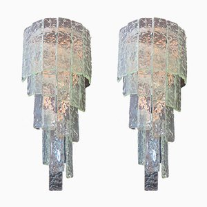 Große Vintage Wandleuchten aus Muranoglas, 1982, 2er Set