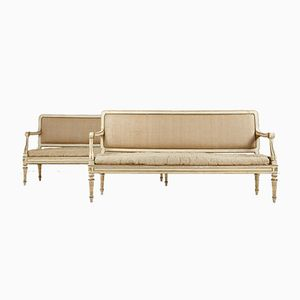 Antique Painted Italian Sofas, Set of 2