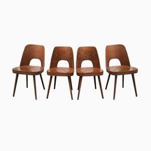 Stühle von Oswald Haerdtl für Thonet, 1950er, 4er Set