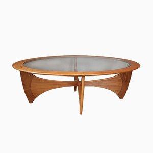Table Basse Ovale en Teck et Verre par Victor Wilkins pour G-plan