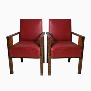 Französische Beistellstühle, 1940er, 2er Set