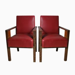 French Side Chairs, 1940s, Set of 2