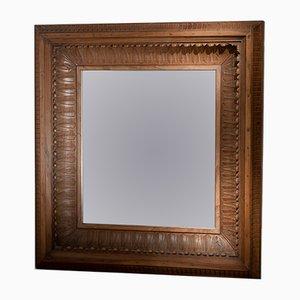 Espejo con marco profundo del siglo XIX