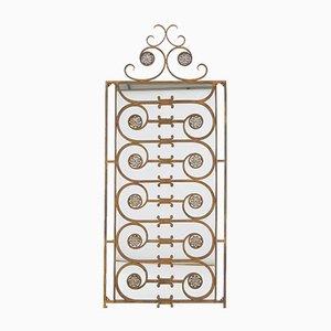 Antiker Spiegel mit Rahmen aus Gusseisen