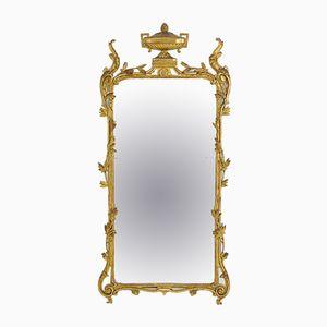 Espejo francés dorado del siglo XIX