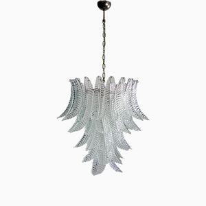 Lámpara de araña italiana grande de cristal de Murano de Mazzega, años 80