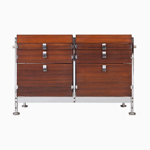 Belgian Double Chest of Drawers by Jules Wabbes for Mobilier International, 1960s