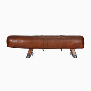 Vintage Leather Gymnastics Pommel Horse, 1920s