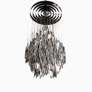 Lámpara de araña de metal, años 60